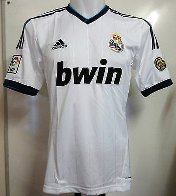 Real Madrid 2012/13 S/s Home Shirt By Adidas Size Adults Medium Brand New