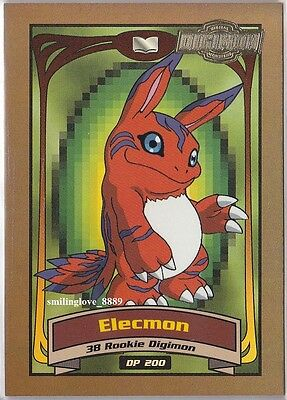 MINT UPPER DECK DIGIMON CHASE INSERT CARD - ANIMATED SERIES 2 - ELECMON D6 of 10