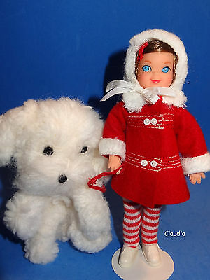 Vintage Tutti ME AND MY DOG #3554 from 1966 Near MINT w/ HTF STRIPED KNIT TIGHTS
