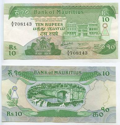 GB436 - Banknote Mauritius 10 Rupees ND 1985 Pick#35b