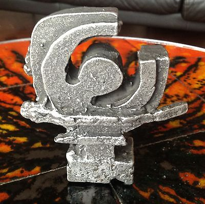 Vintage Mid-Century 1960s-70s Brutalist Metal Sculpture By Willy Ceysens