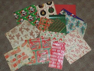 Lot of Vintage Wrapping Paper Christmas