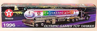 Texaco Olympic Gamess Toy Tanker Truck 1996 New In Box #3 Lights and Sound