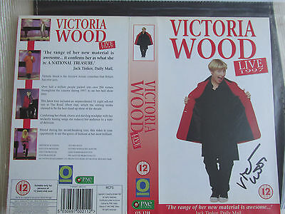 Victoria Wood Hand Signed Vhs Sleeve 'live 1997'