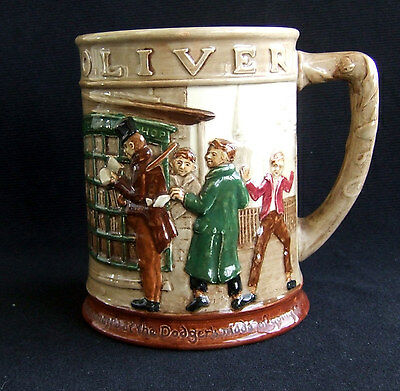 Royal Doulton Seriesware Relief Tankard Oliver Twist D 6286 c 1935-1960
