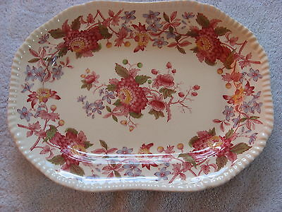 Spode ASTER RED 13 inch Oval Serving Platter # 2 of 8130