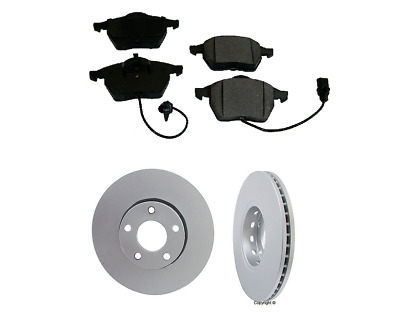2 ZIMMERMANN FRONT Rotor OPparts Brake Pad Set For Audi 09-13 A3 WITH 312mm Disc