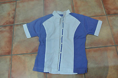 Navy White Showjumping Show Shirt Size 12