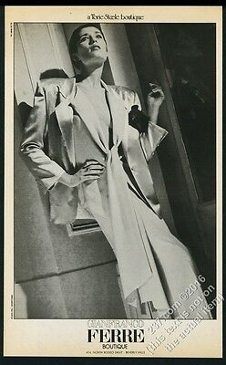 1984 Herb Ritts photo Gianfranco Ferre Boutique woman's suit vintage print ad