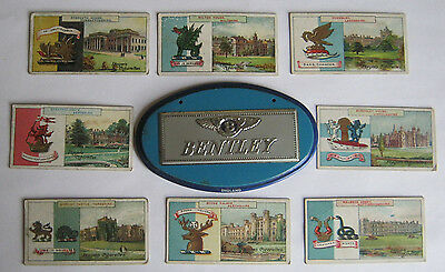 ONE WHEATIES BENTLEY AUTO EMBLEM and EIGHT (8) 1909 JOHN PLAYER TOBACCO CARDS