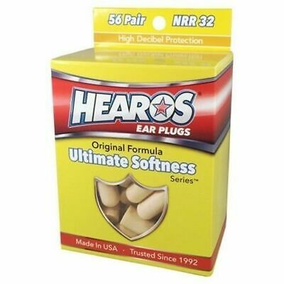 HEAROS Ultimate Softness Series Ear Plugs, 56 Pairs *NEW* Foam, Noise Reduction