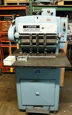 Lawson 3-Hole Paper Drill - Heavy Duty Floor Model with Extras tested, challenge