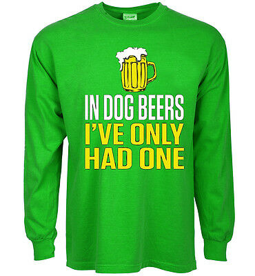 977856709 FUNNY ST PATRICKS day t-shirt Dog Beers decal shirt for men green ...