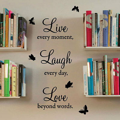 Live Laugh Love Wall Quote Stickers Wall Decals Wall Art decorations Letter 434