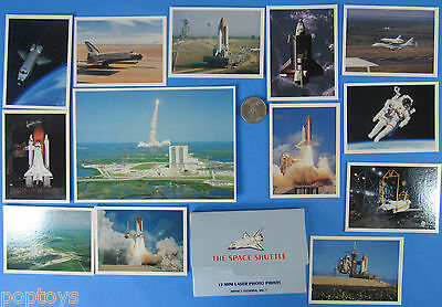 POSTCARD / PHOTO print LOT of 13 '80s vtg NASA Space Shuttle Challenger Lift Off
