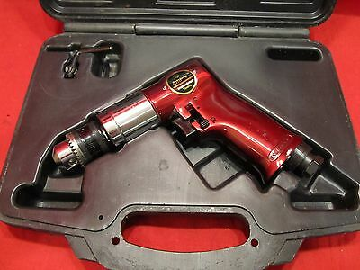 """Ampro 3/8"""" reversible pneumatic air drill Model AR2431 Burgundy Collection"""