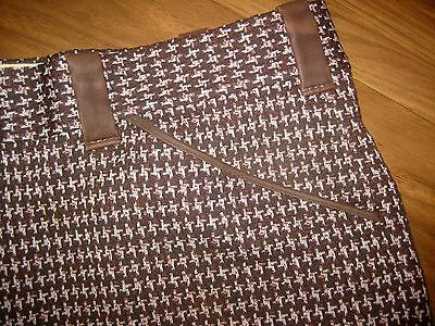 Vintage 60s 70s Mens 36 31 Tuxedo HOUNDSTOOTH Mod Polyester Prom Tux suit pants
