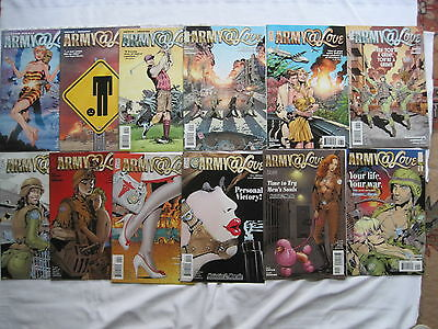 ARMY @ LOVE : COMPLETE 12 issue series by VEITCH & ERSKINE. DC VERTIGO. 2007