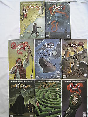 1602 : COMPLETE CLASSIC 8 ISSUE SERIES by NEIL GAIMAN & ANDY KUBERT. MARVEL 2003