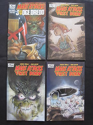 MARS ATTACKS : FIRST BORN : #s 1,2,3. By CHRIS RYALL & SAM KIETH.  IDW. 2014