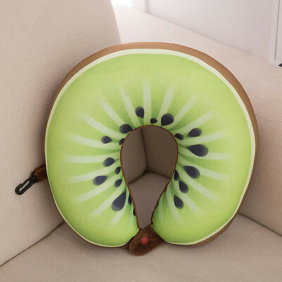 Cute Fruit U Shaped Pillow Cushion Nanoparticles Neck Pillows for Car Nicely