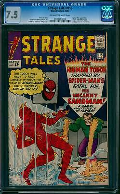 Strange Tales # 115  The Origin of Doctor Strange  !  CGC 7.5 scarce book !