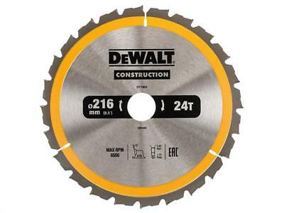 DEWALT DT1952 DT1154 Circular Saw Blade 216 x 30mm x 24T Series 30 Construction