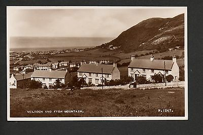 Meliden and Fish Mountain - real photographic postcard