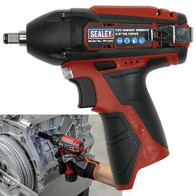 """Sealey 12V Cordless 3/8"""" Drive Impact Wrench 80Nm Body Only LED Indicator"""
