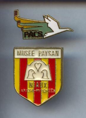 2 Rares Pins Pin's .. Animal Pigeon Colombe / Mix France  ¤3B