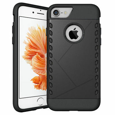 Hybrid Ultra-Thin Shockproof Armor Back Case Cover For Apple Iphone 7 Black 04
