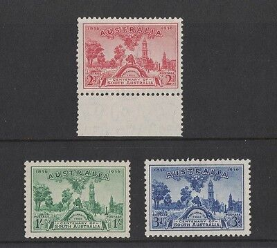 1936 Australia SA SG 161/3 mlh set of 3