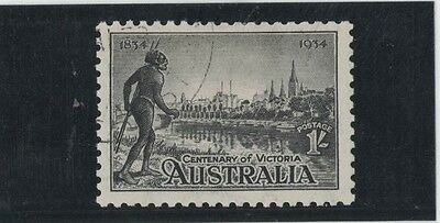 1934 Australia Centenary of Victoria SG 149 Perf 10 1/2 1/- black fine used