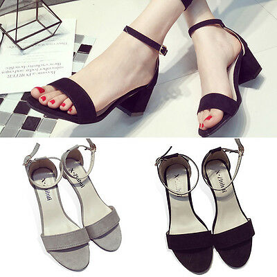 Sexy Women's Ankle Strap Open Toe Ladies Stilettos Sandals High Heel Party Shoes