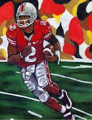 Terrelle Pryor Painting Heisman signed