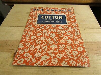 1943 Coca-Cola Our America Cotton Booklet with Pictures + Steel & Oil Booklet