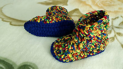 Crocheted toddler / child's slippers booties - you choose color