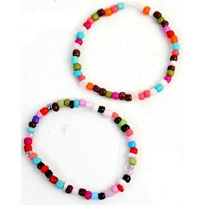 Lot 20 Bracelet Perle Coloré Mode