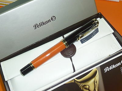 Pluma Estilográfica Pelikan M800 Burnt Orange -B- Fountain Pen