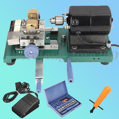 110V 200W Stepless Pearl Drilling Holing Machine Driller Full Set Jewelry Tools