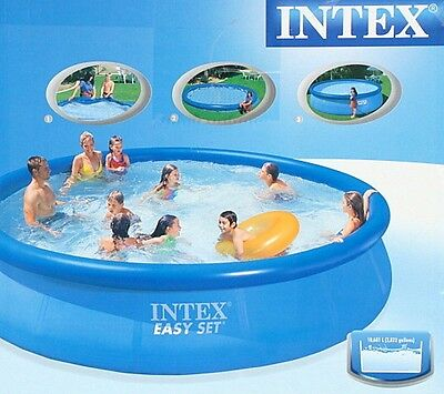 INTEX Swimming Pool EASY SET 457 x 91 cm mit Pumpe