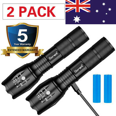 2019 Rechargeable 100000Lm 3T6 Xml Led Headlamp Headlight Head Torch Flashlight