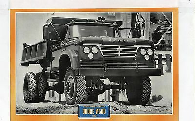 Dodge  W500            Glossy   Picture (T379)