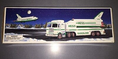 1999 Hess Truck And Space Shuttle With Satellite Toy New In Box Mint