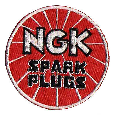 Ecusson brodé patche thermocollant NGK Spark Plugs patch automobile