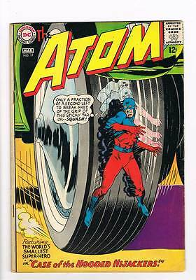Atom # 17 Case of the Hooded Hijackers! Kane cover! grade 4.5 scarce book !!