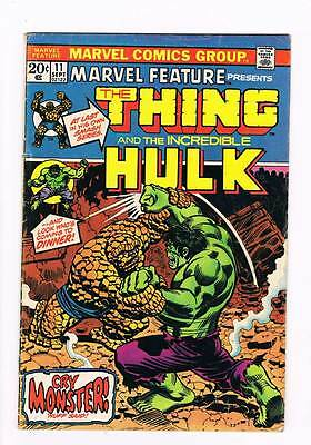 Marvel Feature # 11 Thing versus Hulk battle issue Jim Starlin grade 4.5 scarce