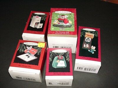 Lot of 5 - mice / mouse theme - HALLMARK CHRISTMAS ORNAMENTS
