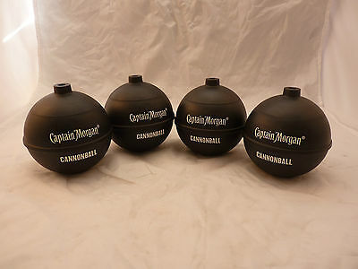 Set of 4 Captain Morgan Cannonball Rum Black Cup NO STRAW