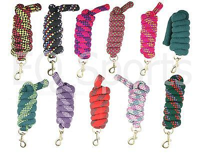 FREE P&P Knitted Horse Lead Rope Trigger Clip Various Colours 2 Metres !!